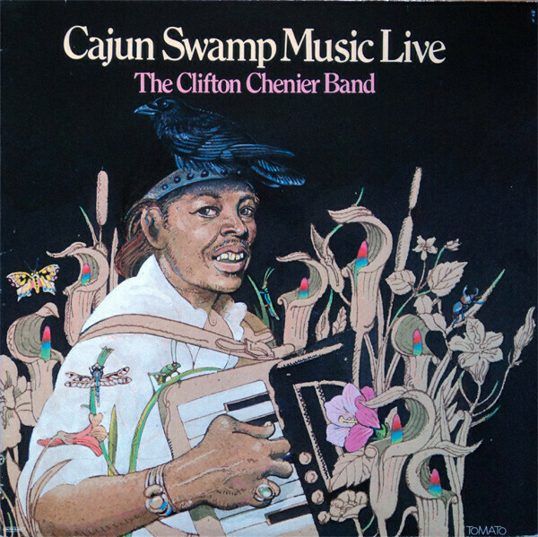 """Clifton Chenier """"Cajun Swamp Music Live"""" EX+ 1978/re.1989 {2xLPs!}"""