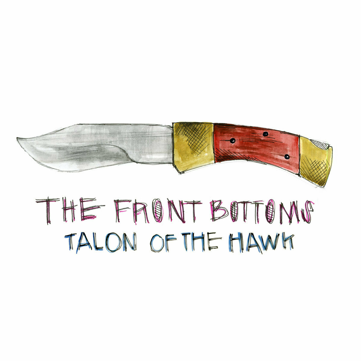 """The Front Bottoms """"Talon Of The Hawk"""" NM- 2016 *red/yellow vinyl!*"""