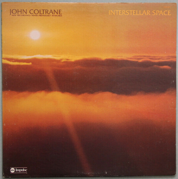 "John Coltrane ""Interstellar Space"" VG+ 1974 *QUAD*"