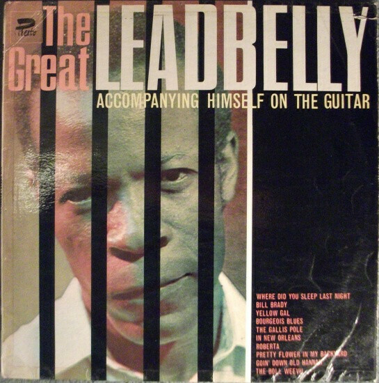 """Leadbelly """"The Great... Accompanying Himself On The Guitar"""" (G) 1965"""