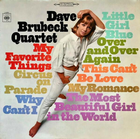"Dave Brubeck Quartet ""My Favorite Things"" VG 1966"