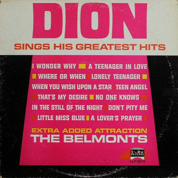 """Dion """"Dion Sings His Greatest Hits"""" EX+ 1962"""