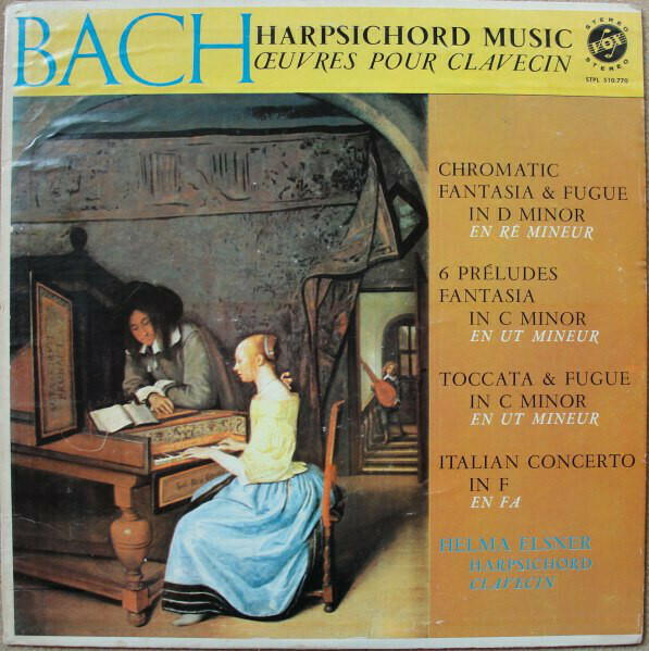 "Bach ""(Helma Elsner plays) Harpsichord Music"" EX+ 1960"