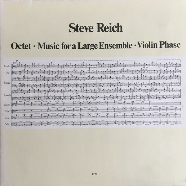 """Steve Reich """"Octet•Music For A Large Ensemble•Violin Phase"""" NM 1980"""