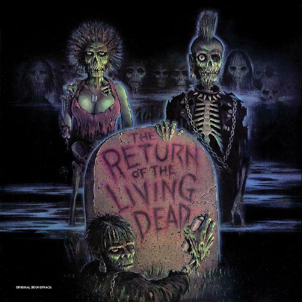 """Various """"The Return Of The Living Dead (OST)"""" {ltd. ed.} *Clear Vinyl w/ Blood Red Splatter*"""