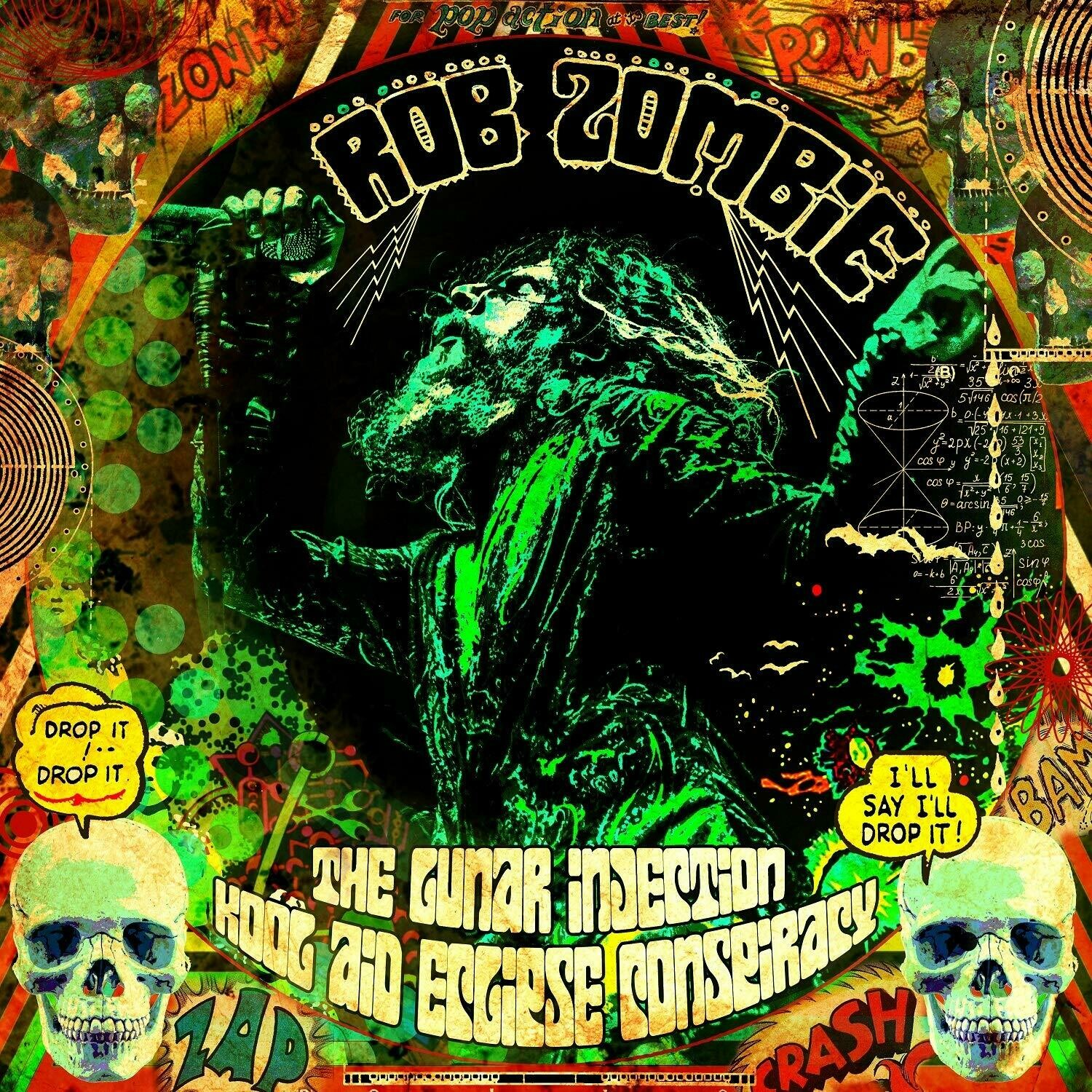 """Rob Zombie """"The Lunar Injection Kool Aid Eclipse Conspiracy"""" *Red w/ Black & White Splatter*"""