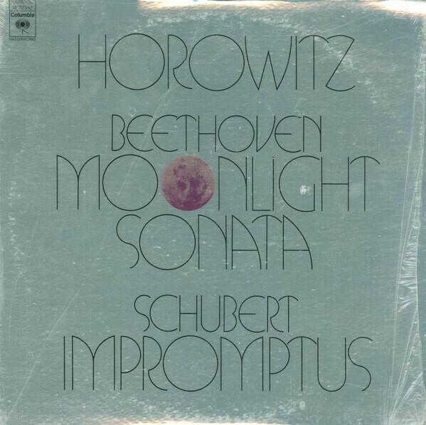 """Horowitz """"Beethoven: Moonlight Sonata / Schubert: Impromptus"""" VG+ 1973"""