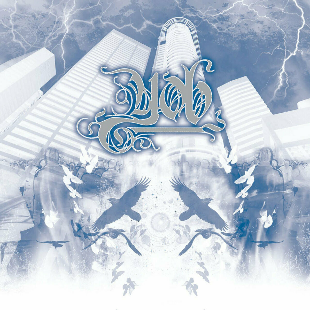 "Yob ‎""The Unreal Never Lived"" *White, Blue, & Grey Marbled Vinyl*"