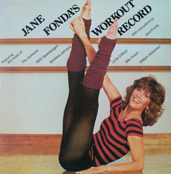 "Various ""Jane Fonda's Workout Record"" EX+ 1982 {2xLPs!}"