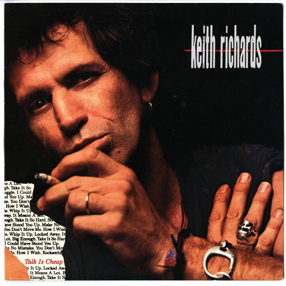 """Keith Richards """"Talk Is Cheap"""" EX+ 1988"""
