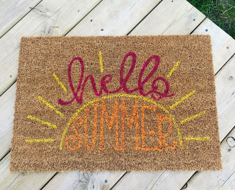 Summer . Boat. and Golf doormat  - Pick your Image