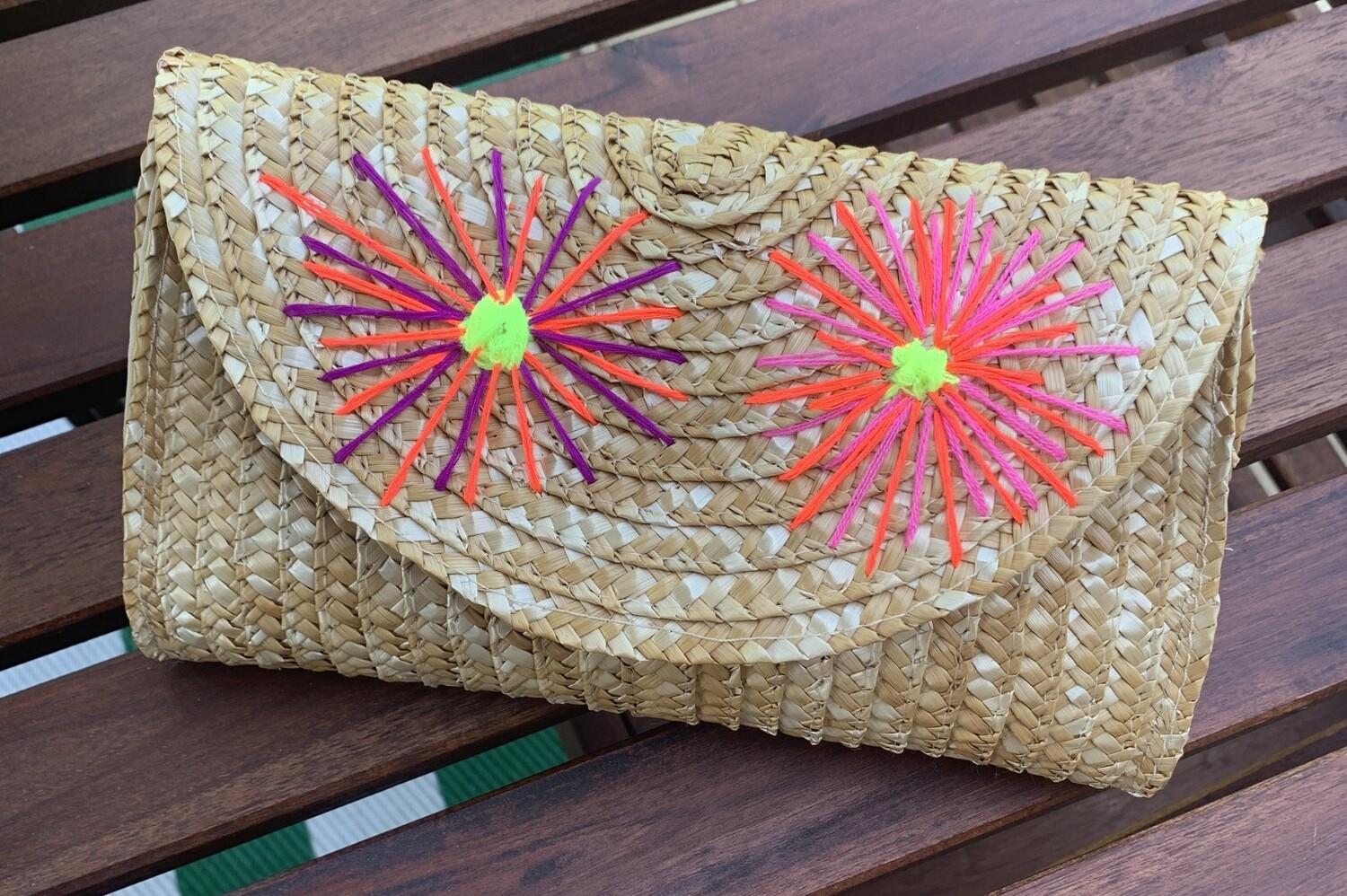 Flower Straw Clutch