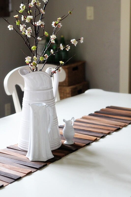 Wood Shim Picture Frame / Table Runner