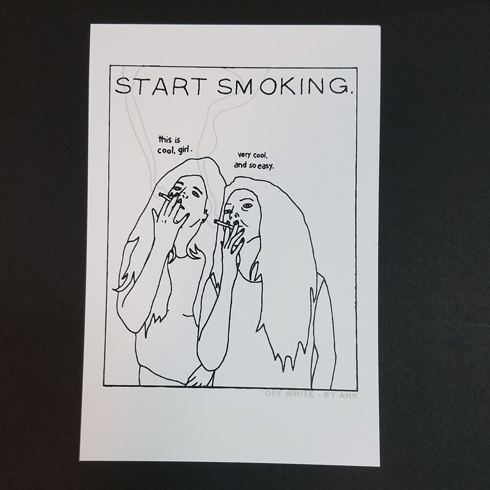 START SMOKING mini print