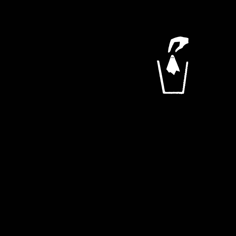 GHOST TRASH  black shirt