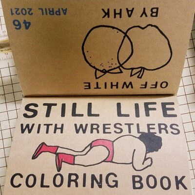 STILL LIFE W/WRESTLERS coloring book