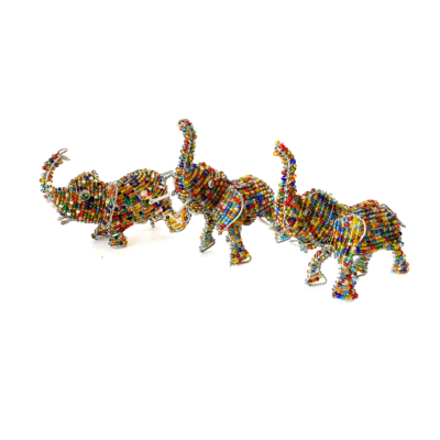 Small Beaded 2018 Elephants And Wart Hogs