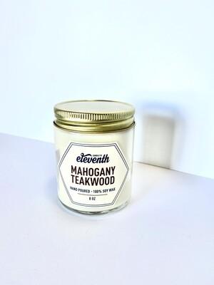Mahogany Teakwood  Candle 8 Oz