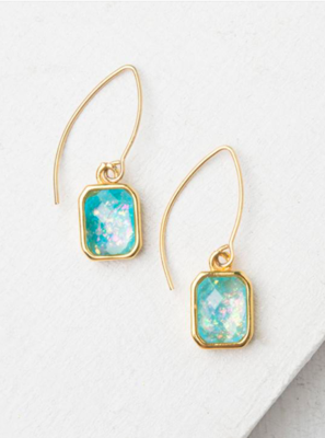 Alexa Sky Blue And Gold Earrings