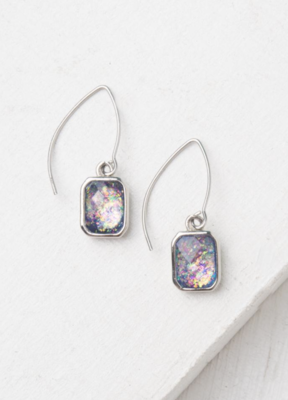 Alexa White and Silver Earrings