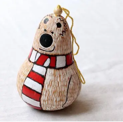 Polar Bear Christmas Gourd Ornament