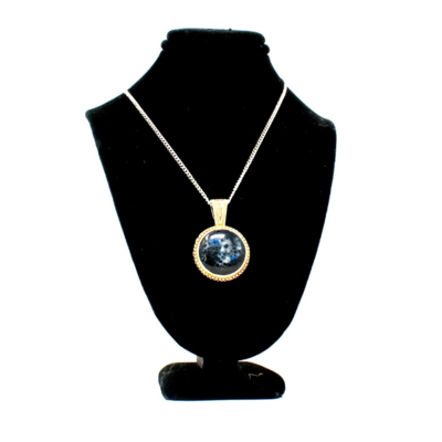 Nightshade Rose Medallion Galaxy Necklace
