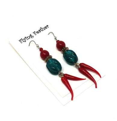 Flying Feather Designs Earrings