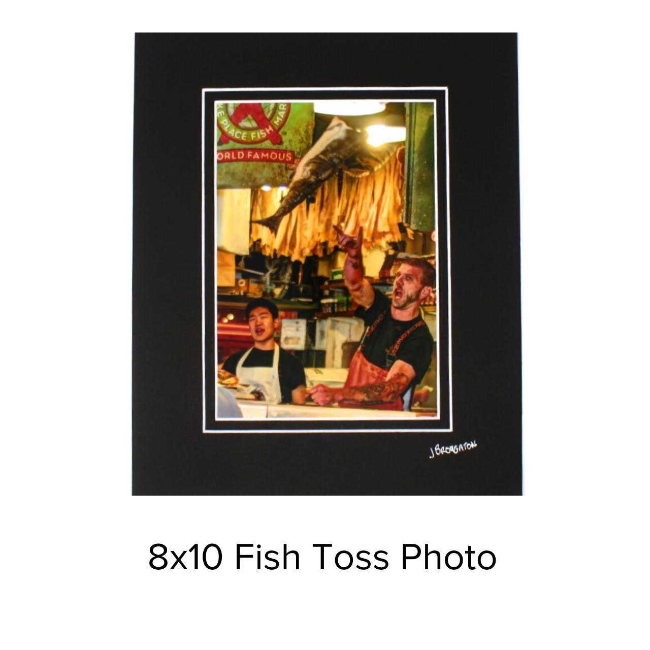 John Broughton Photo 8x10 Fish Toss