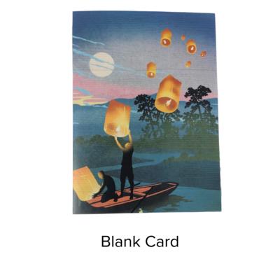 Studio 11 Card Blank Paper Lanterns LI 1071