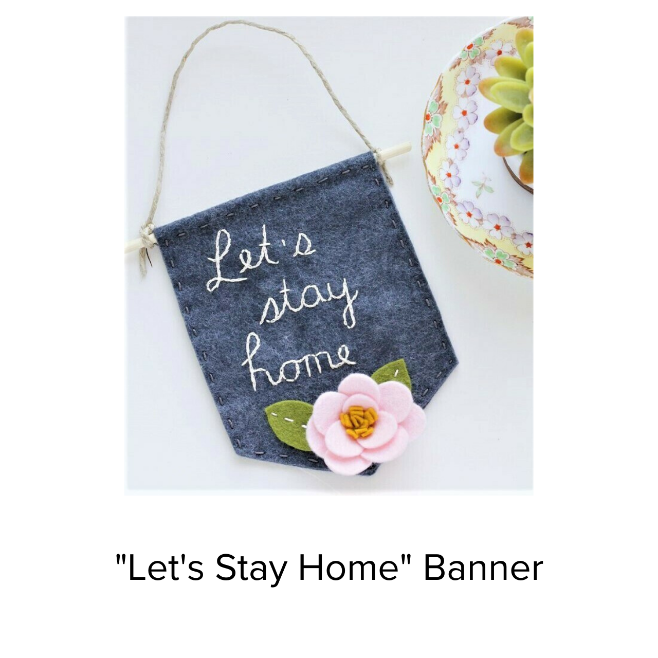 Catshy Crafts Lets Stay at Home Banner