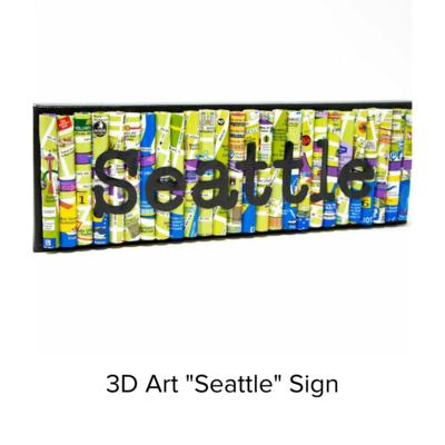 Ramona Claire Art 3D 4x12 Seattle/Maps