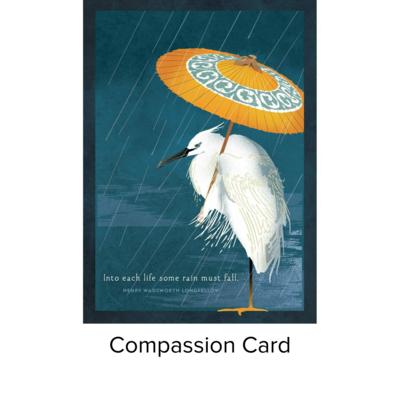 Studio 11 Card Compassion egret LI1080