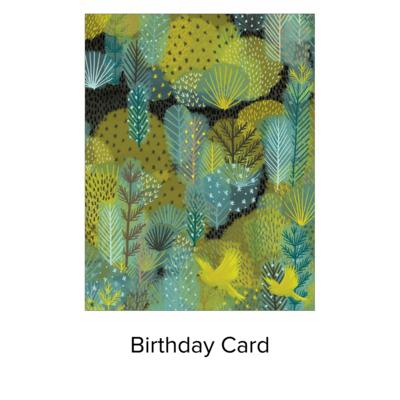Studio 11 card B-Day birds in landscape JN025
