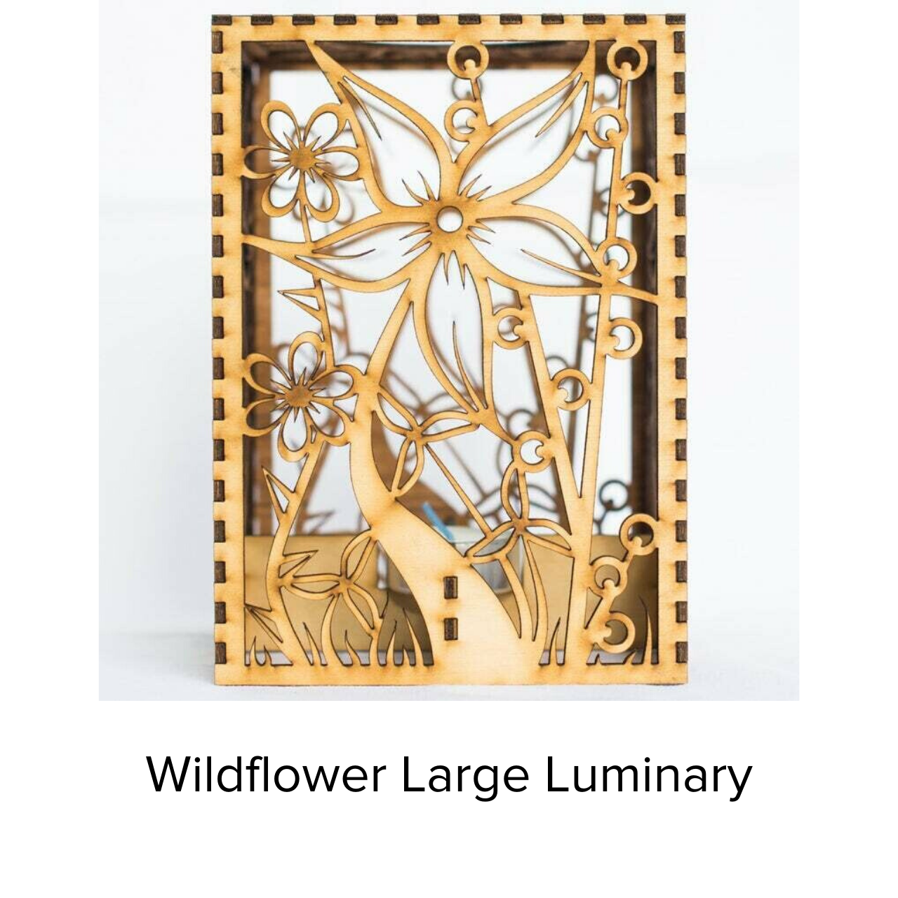 Sunbird Luminary Lg Wildflowers