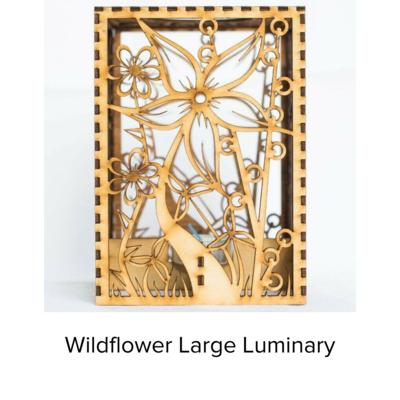 Sunbird Luminary Lg Wildflowers LUM102