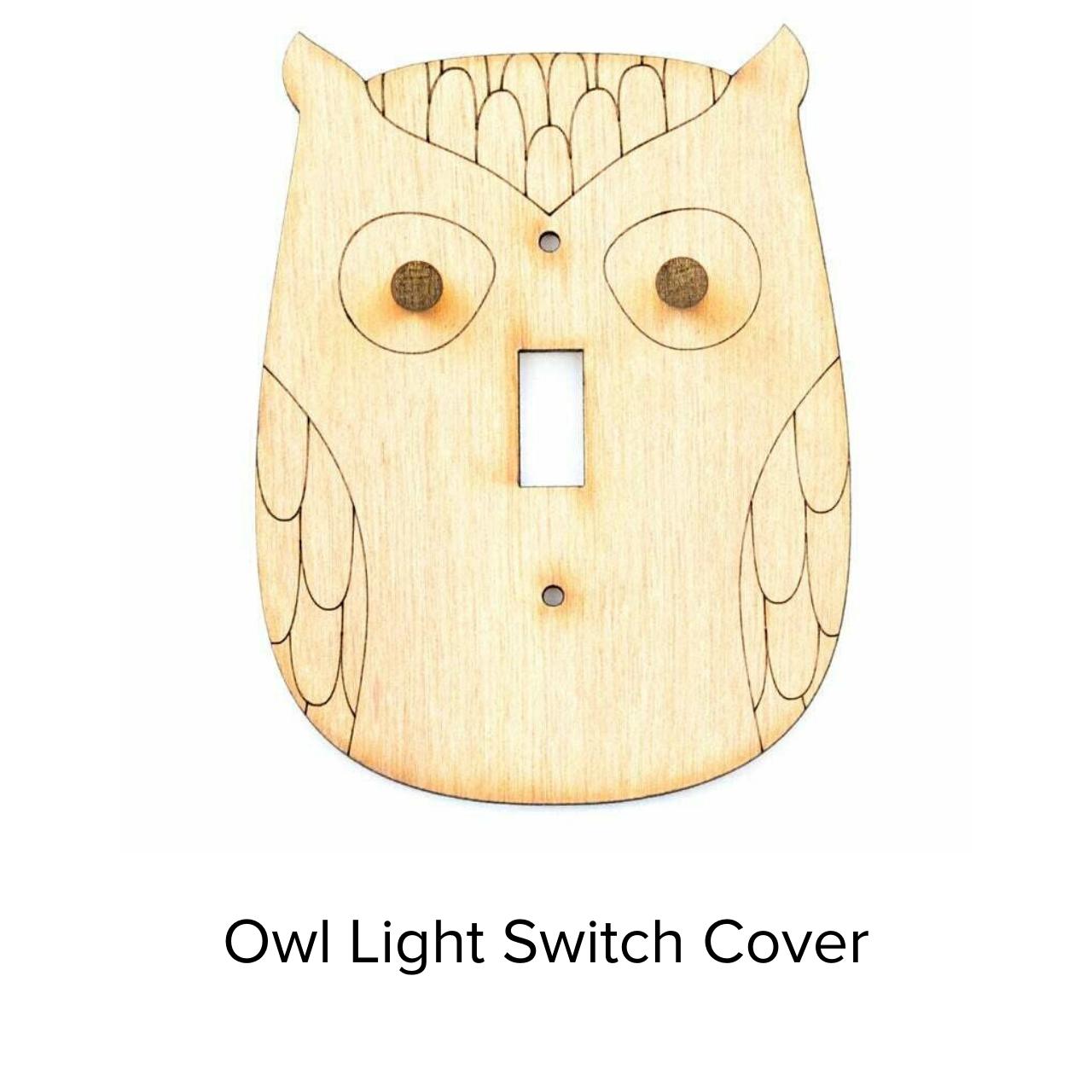Sunbird Light Switch Cover Owl SWP101