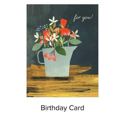Studio 11 Card B day Blue Jug CR012