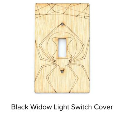 Sunbird Light Switch Cover Black Widow SWP102