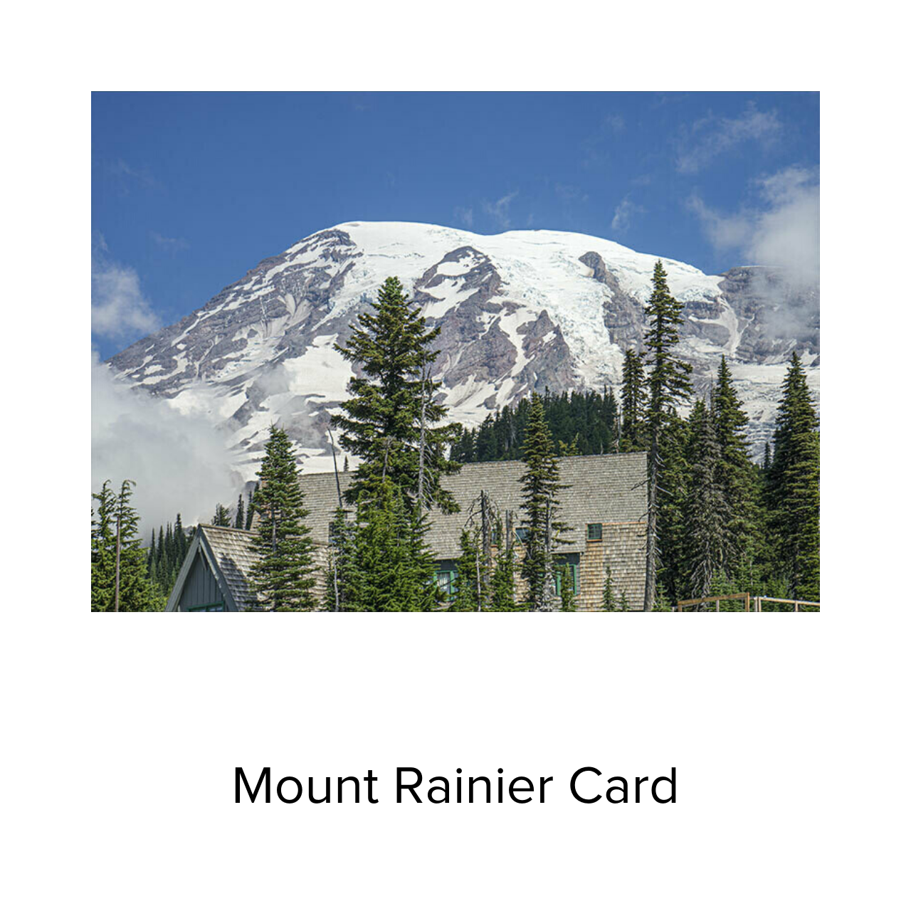 BJ Card Clouds MT Rainier