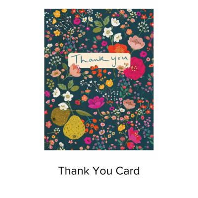 Studio 11 Card Thank You Pear Floral VB033