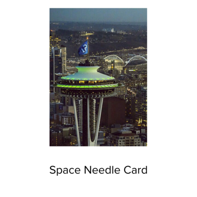 BJ Card Space Needle 12th man
