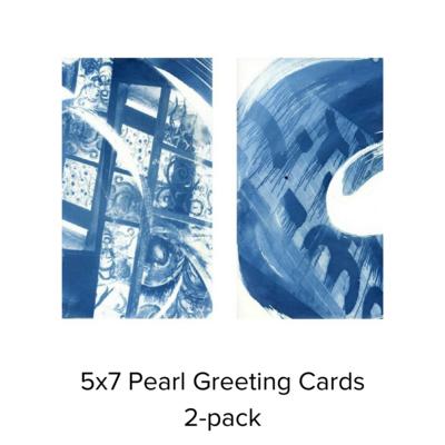 Karen Johanson 5x7 Pearl Greeting Card 2-Pack