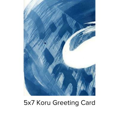 Karen Johanson Koru 5x7 Pearl Greeting Card