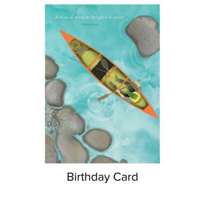 Studio 11 Card B-day Canoe LI1084