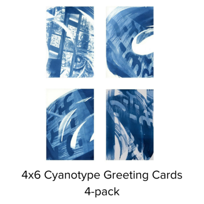 Karen Johanson Cyanotype Sm. Greeting Card 4-Pack