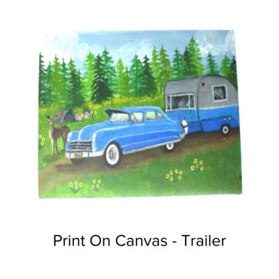 Deborah's Trailer Trash Canvas Med Trailer