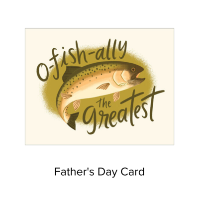 Card Father's Day Fish CS051F