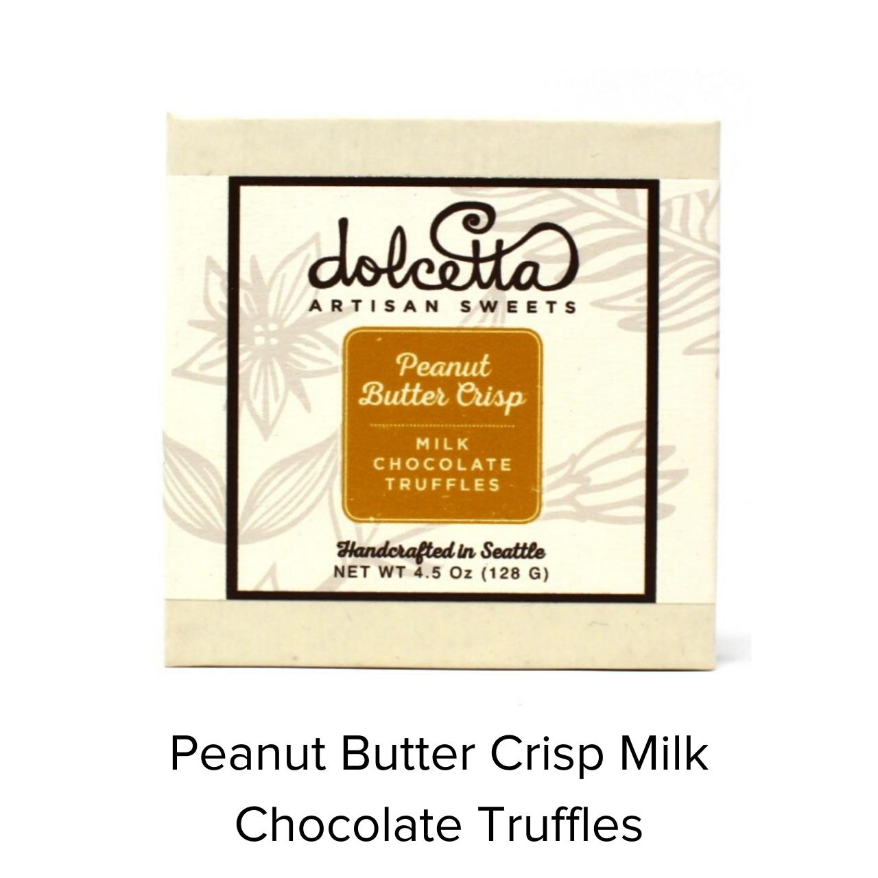 Dolcetta Peanut Butter Crisp Truffles 4.5oz