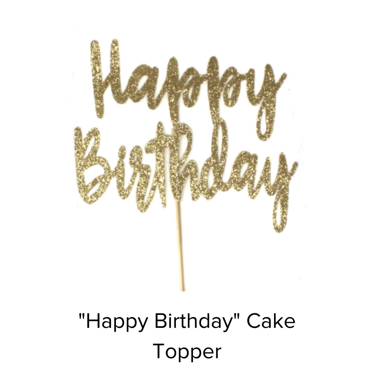 Miss Sun Creates Caketopper Happy Birthday