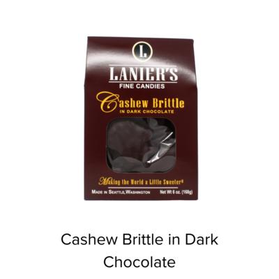Laniers Brittle Cashew Dark Chocolate